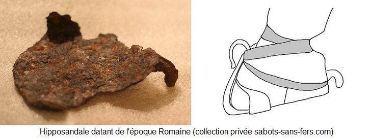 L'hipposandale, invention Romaine pour protéger les sabots des chevaux.